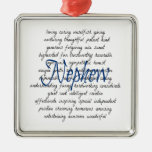 Words for Nephew Christmas Ornament