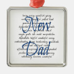 Words for New Dad Christmas Ornaments