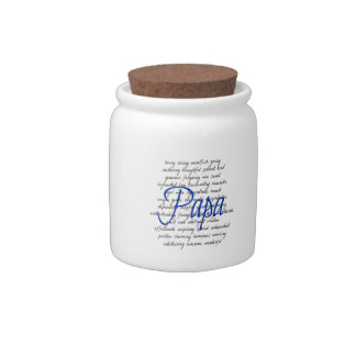 Words for Papa Candy Jars