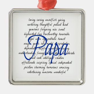 Words for Papa Metal Ornament