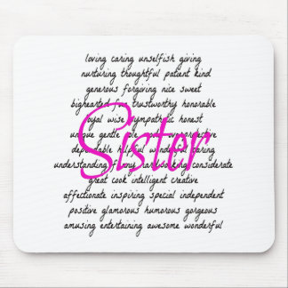 Words for Sister Mouse Pad