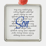 Words for Son Square Metal Christmas Ornament