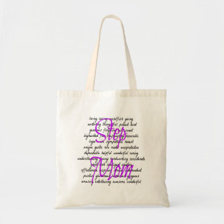 Words for Step Mom Budget Tote Bag