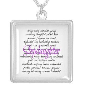 Words for Stepdaughter Silver Plated Necklace