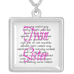 Words for Twin Sister Necklaces