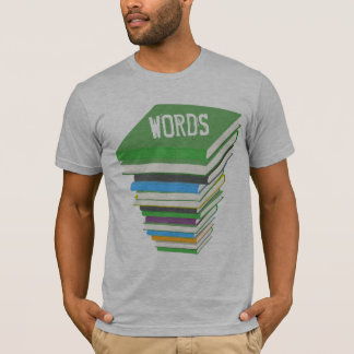 WORDS (GEEK CHICK BOOK STACK) T-Shirt