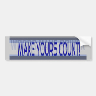 Words Have Power Make Yours Count Bumper Sticker