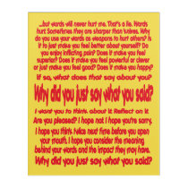 Words Hurt Acrylic Print