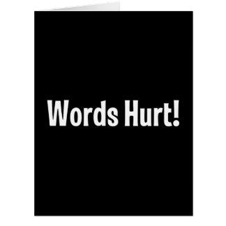 Words Hurt Card