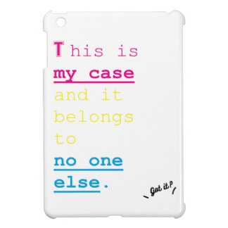 Words is just enough series- My case (tablet) iPad Mini Cases