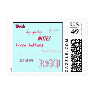 Words, Love Letters, Notes, Sympathy, Invitatio... Stamp