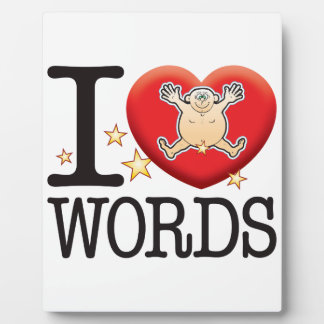 Words Love Man Plaque