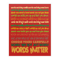 Words Matter Acrylic Print