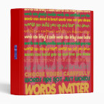Words Matter Binder