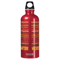 Words Matter Water Bottle