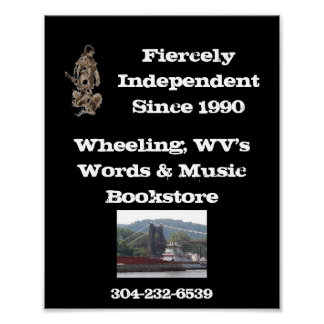 words & Music Bookstore poster wheeling wv.