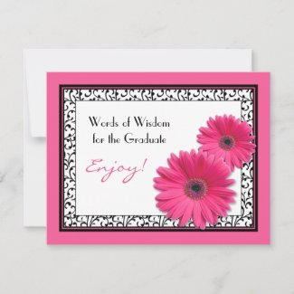 Words of Advice for the Graduate Cards postcard