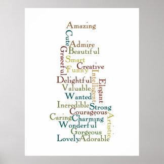 Words of Affirmation Poster