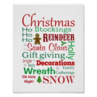 Words of Christmas Print