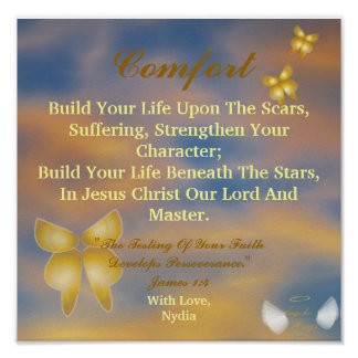 Words Of Comfort - Customize Poster