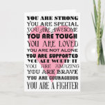 "Words of encouragement get well or cancer card<br><div class=""desc"">This is a card to send to someone suffering from a serious illness with words of encouragement.</div>"