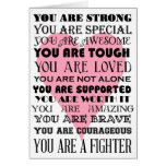 Words of encouragement get well or cancer card<br><div class='desc'>This is a card to send to someone suffering from a serious illness with words of encouragement.</div>