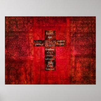WORDS OF FAITH Modern Christian ART Poster