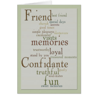 Words of Friendship Greeting Card