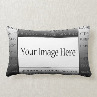 Words Of Friendship-Picture Frame by ShirleyTaylor Lumbar Pillow