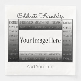 Words Of Friendship-Picture Frame by ShirleyTaylor Paper Dinner Napkin