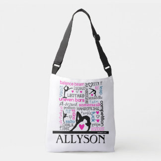 Words of Gymnastics Terminology w/ Monogram Crossbody Bag