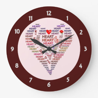 Words of Heart Round Wall Clock