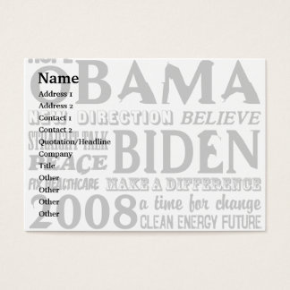 Words of Hope Obama & Biden 2008 Business Card