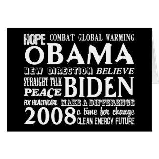Words of Hope Obama & Biden 2008 Greeting Card 2