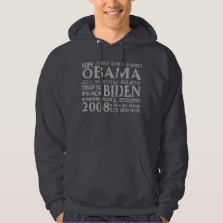 Words of Hope Obama & Biden 2008 Hooded Sweatshirt