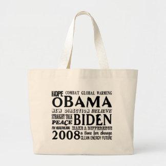 Words of Hope Obama & Biden 2008 Tote Bag