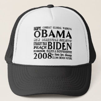 Words of Hope Obama & Biden 2008 Trucker Hat
