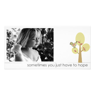 words of hope picture cards personalized photo card