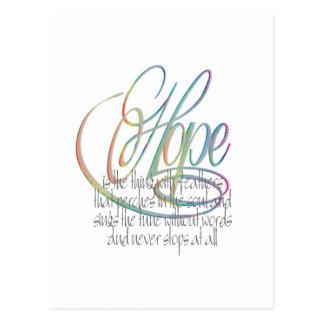 Words Of Hope Postcard