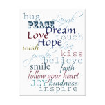 Words of Inspiration Canvas Prints