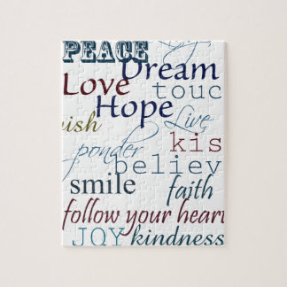 Words of Inspiration Jigsaw Puzzle