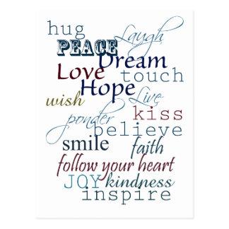 Words of Inspiration Postcard