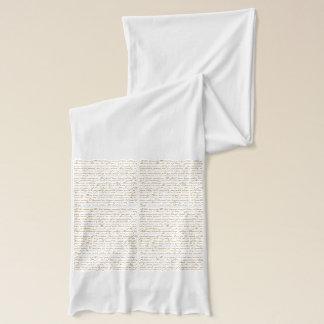 Words of Jane Austen scarf