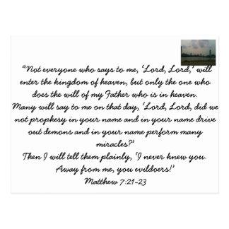 Words of Jesus Post Card