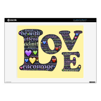 "Words of Love 14"" Laptop Skin for Mac & PC"