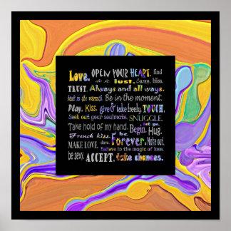 words of love art print