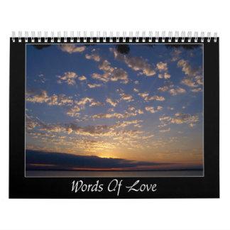 Words of Love Calendar
