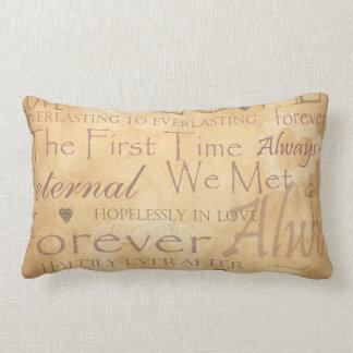 Words of Love - Forever & Always Throw Pillows