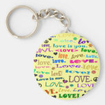 words of love key chain
