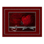 Words of Love Red Hearts Post Card